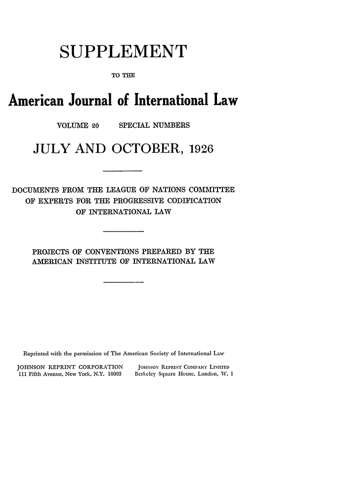 handle is hein.journals/ajilss20 and id is 1 raw text is: SUPPLEMENT