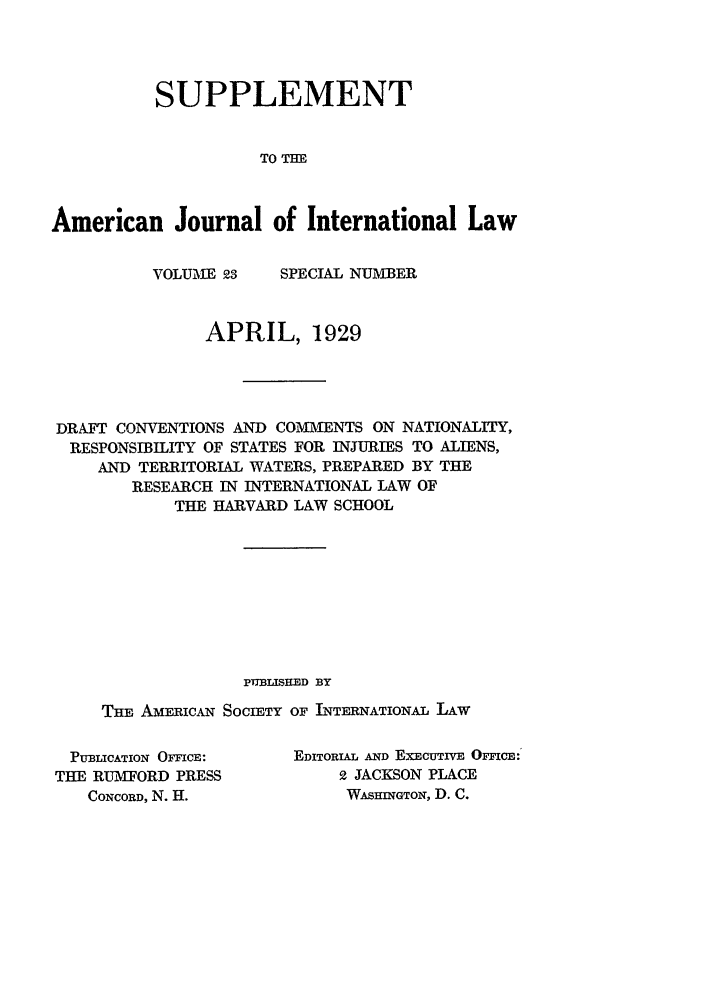 handle is hein.journals/ajilss23 and id is 1 raw text is: SUPPLEMENT