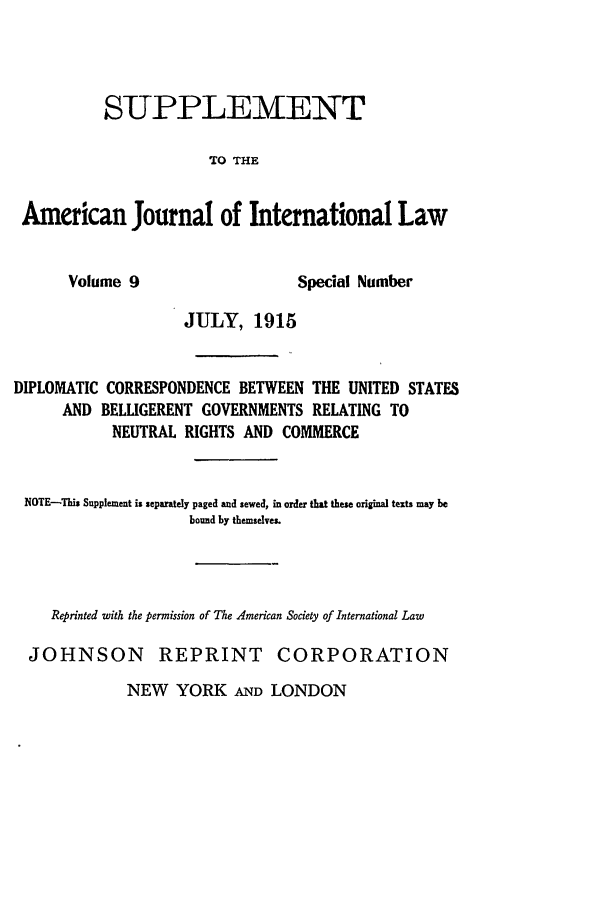 handle is hein.journals/ajilss9 and id is 1 raw text is: SUPPLEMENT