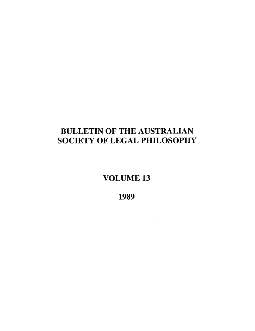 handle is hein.journals/ajlph13 and id is 1 raw text is: BULLETIN OF THE AUSTRALIAN