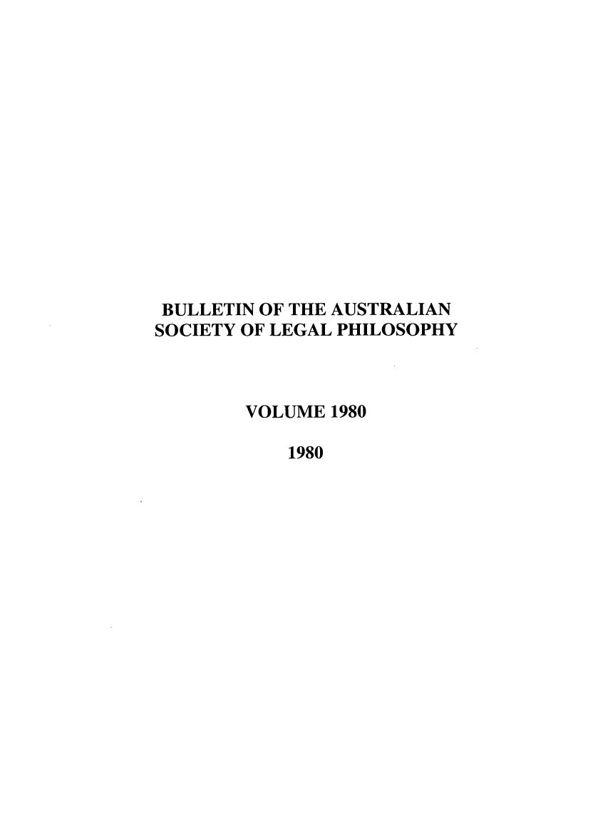 handle is hein.journals/ajlph1980 and id is 1 raw text is: BULLETIN OF THE AUSTRALIAN