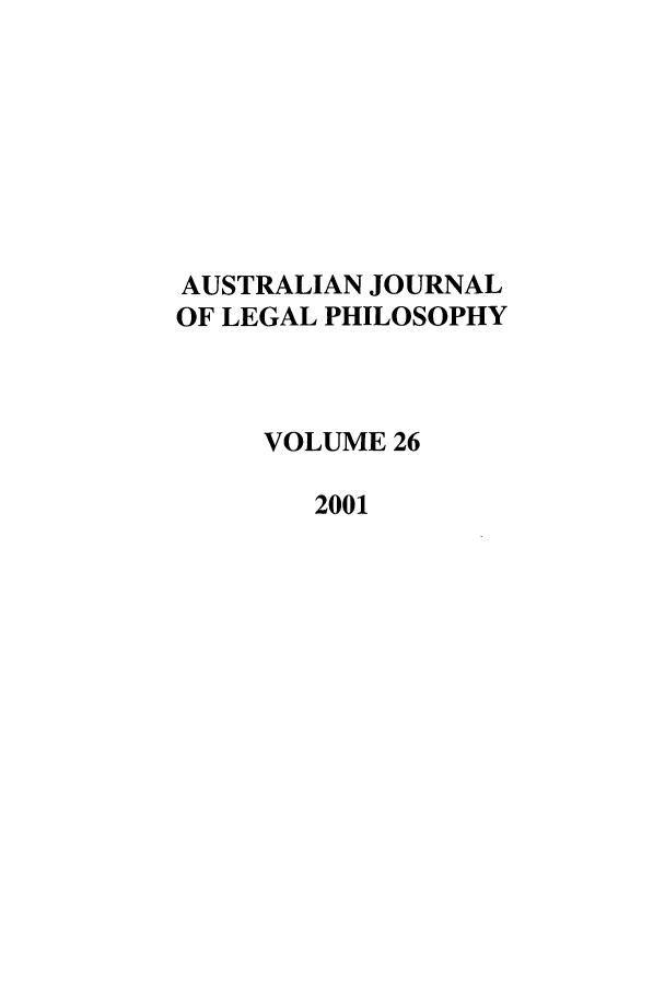 handle is hein.journals/ajlph26 and id is 1 raw text is: AUSTRALIAN JOURNAL