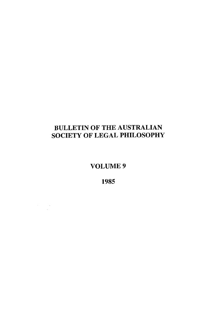 handle is hein.journals/ajlph9 and id is 1 raw text is: BULLETIN OF THE AUSTRALIAN