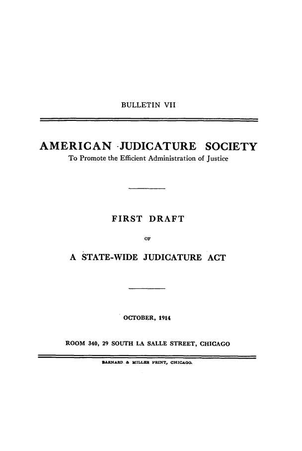 handle is hein.journals/ajudso71 and id is 1 raw text is: BULLETIN VII
