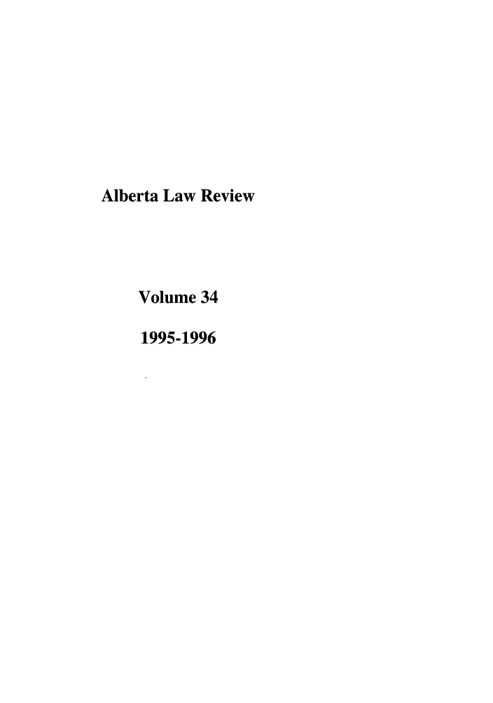 handle is hein.journals/alblr34 and id is 1 raw text is: Alberta Law Review