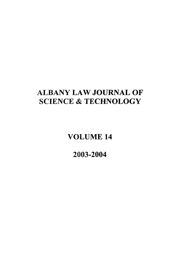 handle is hein.journals/albnyst14 and id is 1 raw text is: ALBANY LAW JOURNAL OF