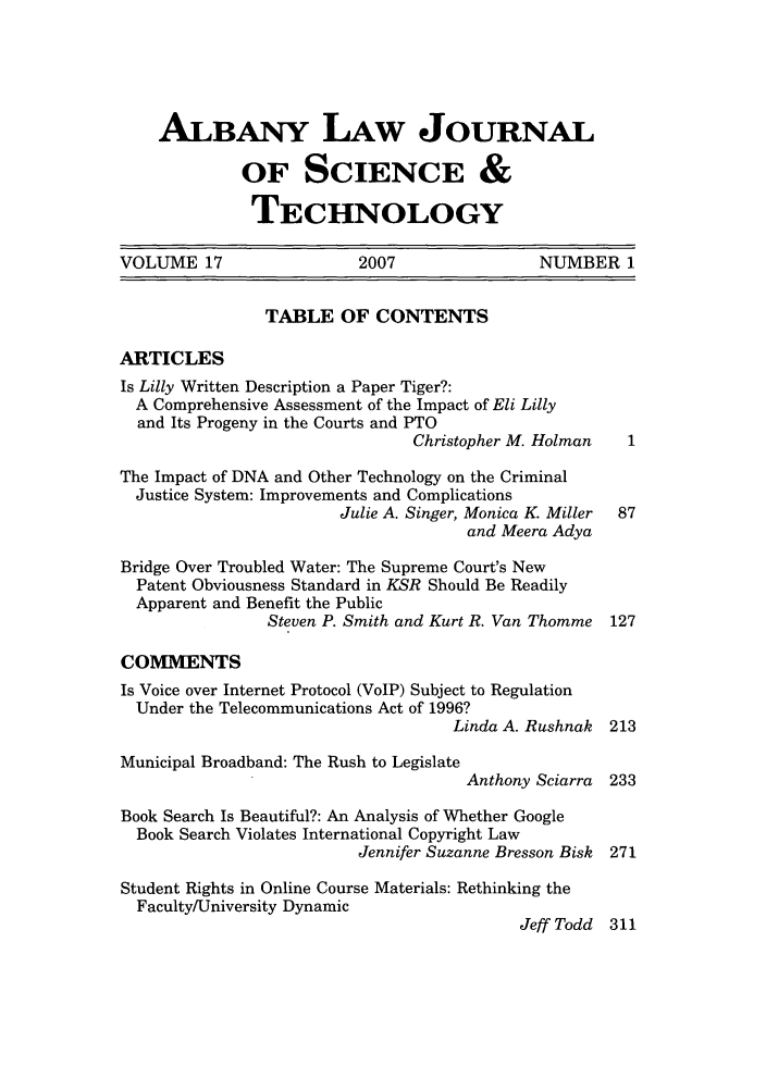 handle is hein.journals/albnyst17 and id is 1 raw text is: ALBANY LAW JOURNAL