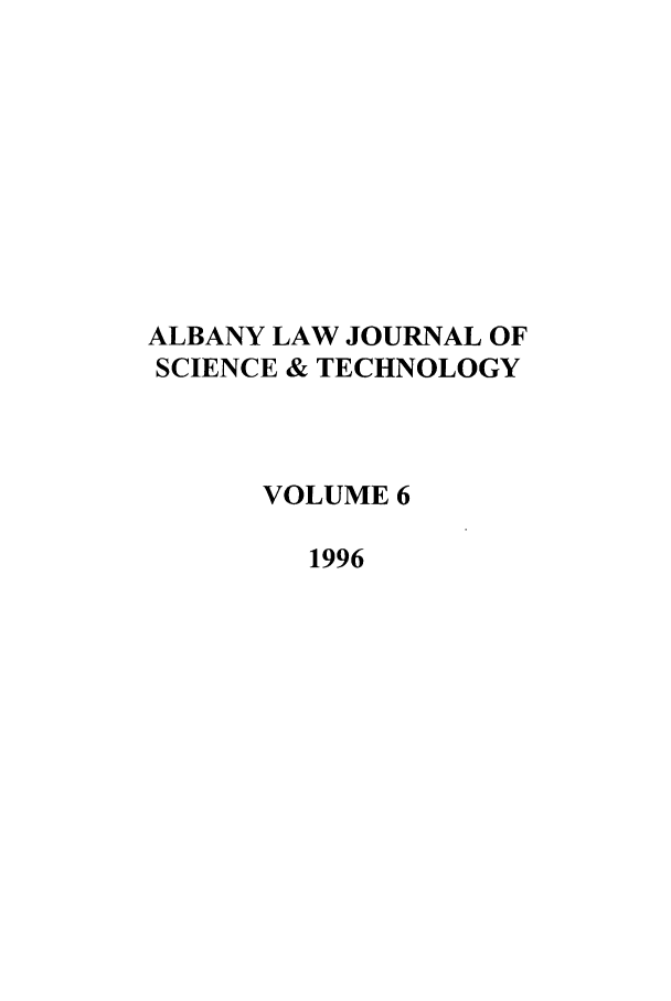 handle is hein.journals/albnyst6 and id is 1 raw text is: ALBANY LAW JOURNAL OF