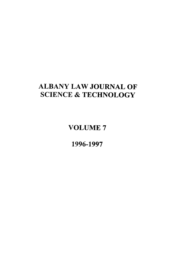 handle is hein.journals/albnyst7 and id is 1 raw text is: ALBANY LAW JOURNAL OF