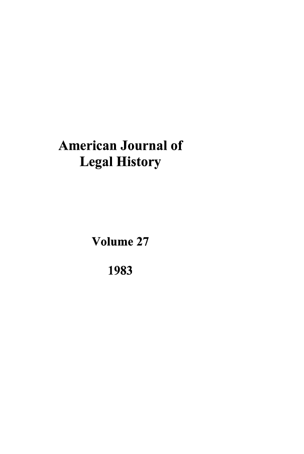 handle is hein.journals/amhist27 and id is 1 raw text is: American Journal of