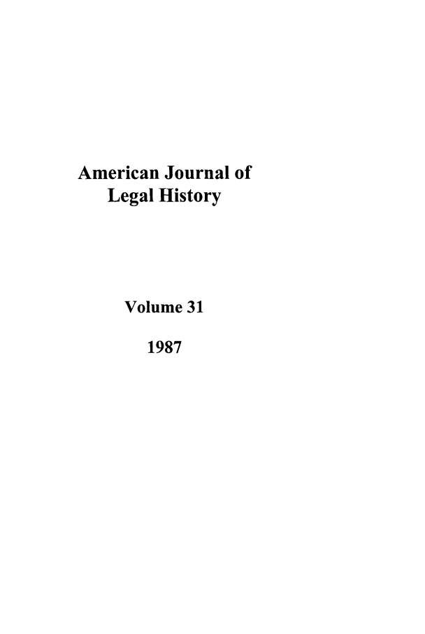 handle is hein.journals/amhist31 and id is 1 raw text is: American Journal of