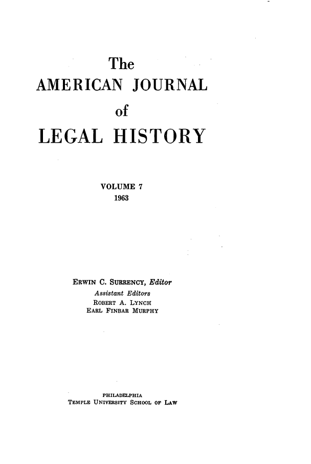 handle is hein.journals/amhist7 and id is 1 raw text is: The