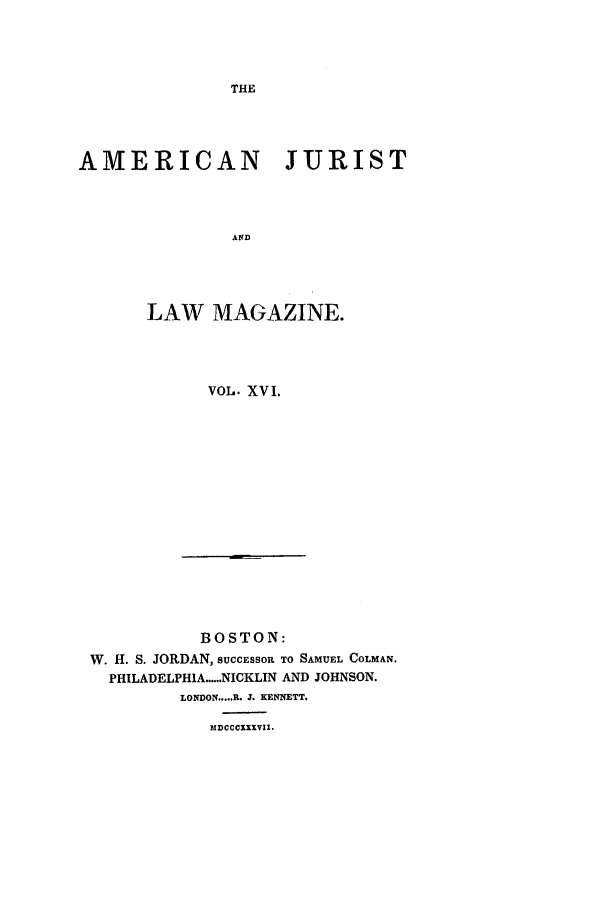 handle is hein.journals/amjlm16 and id is 1 raw text is: THE