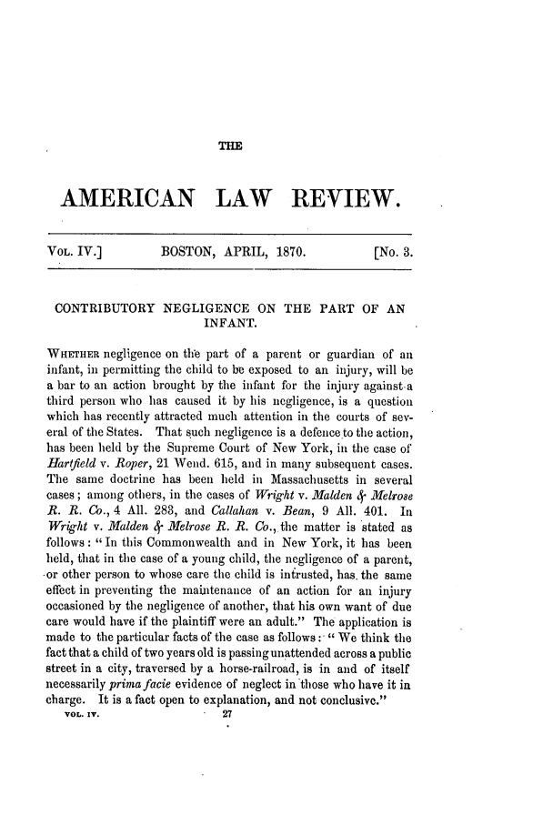handle is hein.journals/amlr4 and id is 417 raw text is: THE