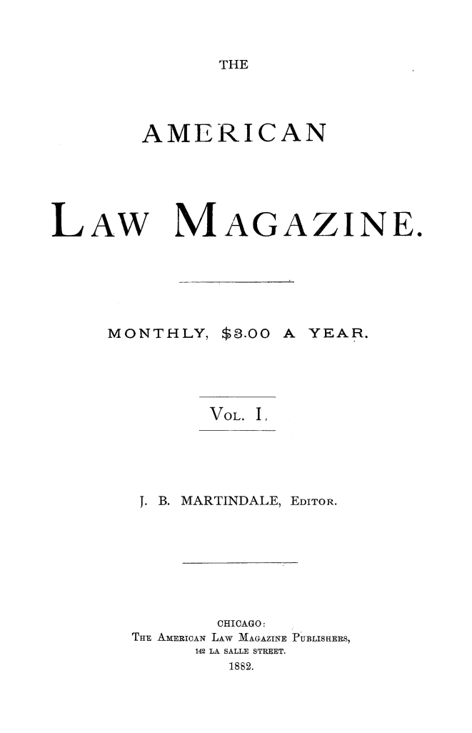 handle is hein.journals/amlwmgz1 and id is 1 raw text is: 
