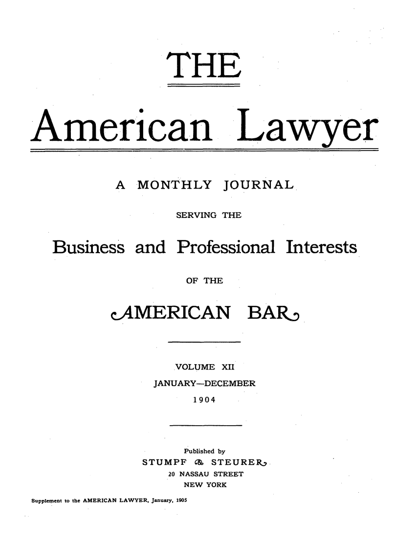 handle is hein.journals/amlyr12 and id is 1 raw text is: THE