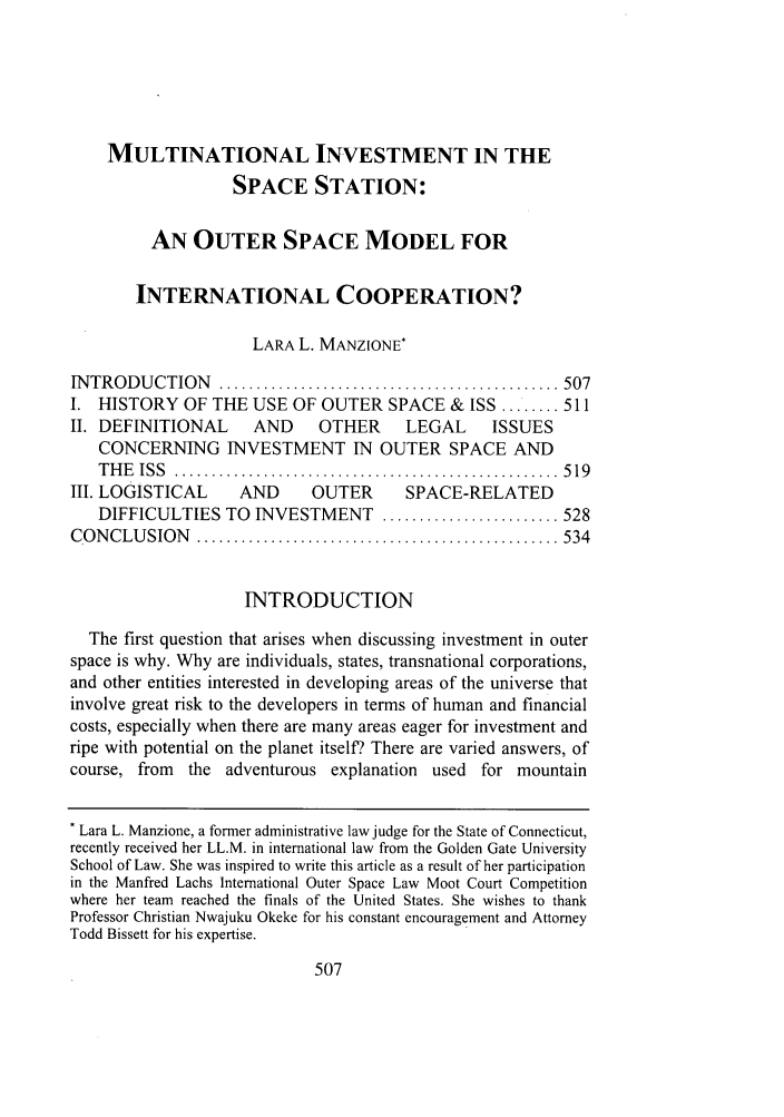 handle is hein.journals/amuilr18 and id is 521 raw text is: MULTINATIONAL INVESTMENT IN THE