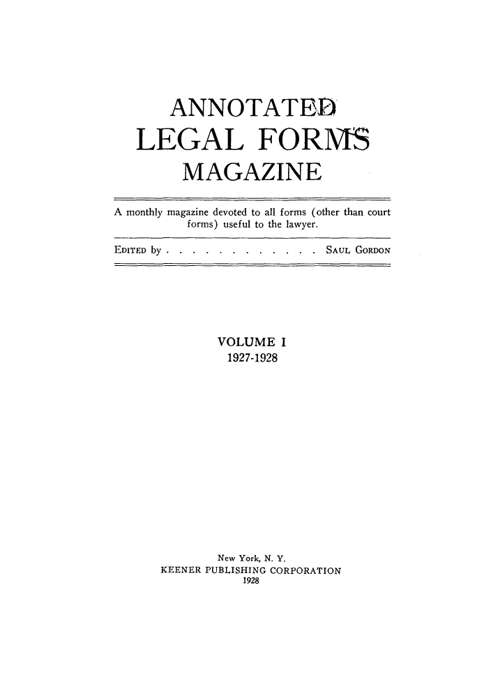 handle is hein.journals/anlefom1 and id is 1 raw text is: ANNOTATE