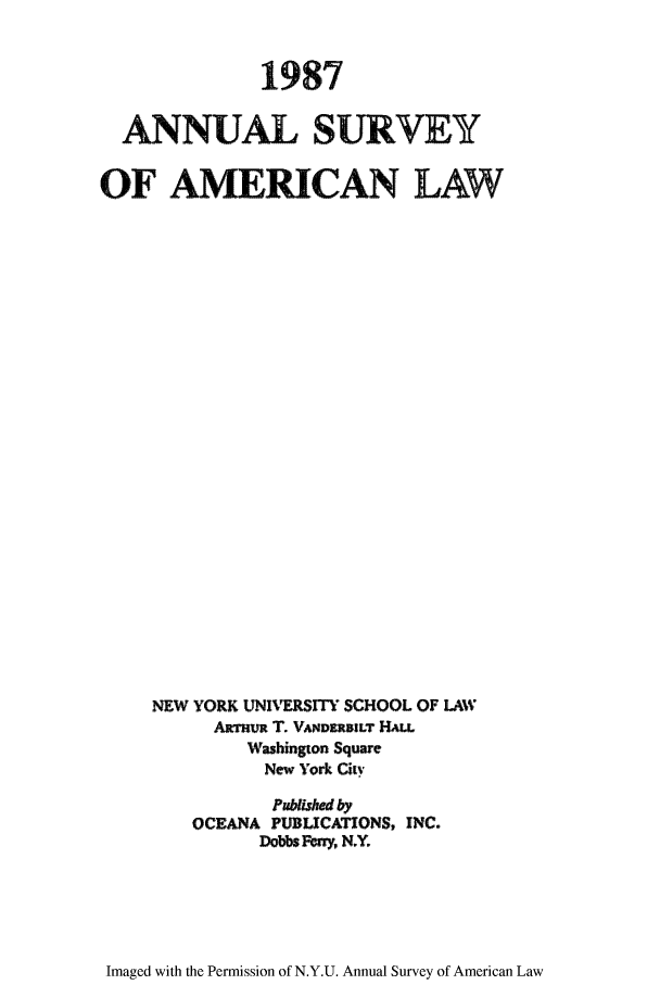 handle is hein.journals/annam1987 and id is 1 raw text is: 1987
