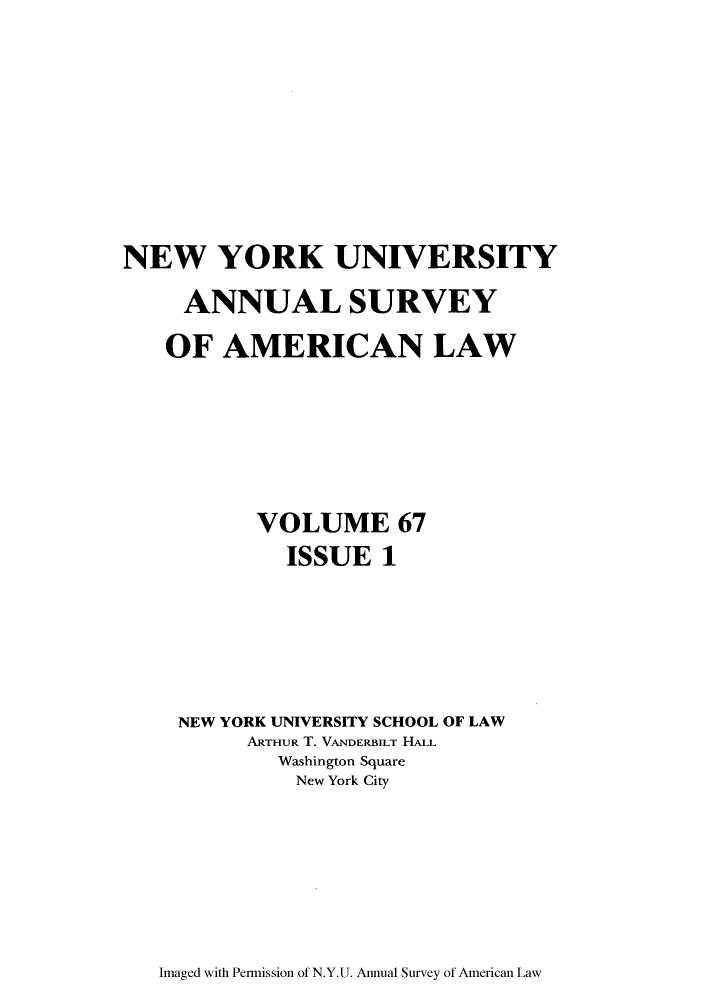 handle is hein.journals/annam67 and id is 1 raw text is: NEW YORK UNIVERSITY