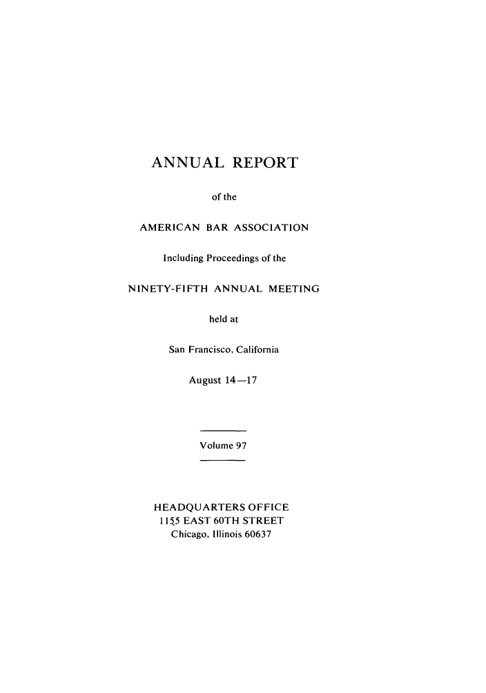 handle is hein.journals/anraba97 and id is 1 raw text is: ANNUAL REPORT