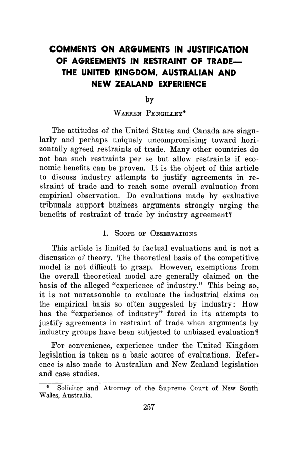 handle is hein.journals/antibull19 and id is 281 raw text is: COMMENTS ON ARGUMENTS IN JUSTIFICATION