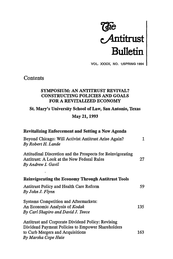 handle is hein.journals/antibull39 and id is 1 raw text is: Wie