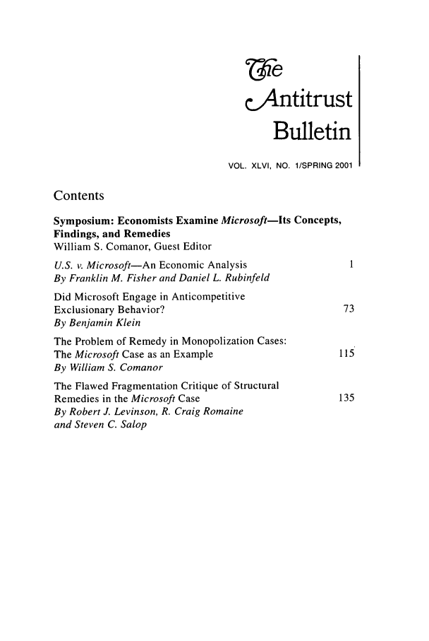handle is hein.journals/antibull46 and id is 1 raw text is: 'ie