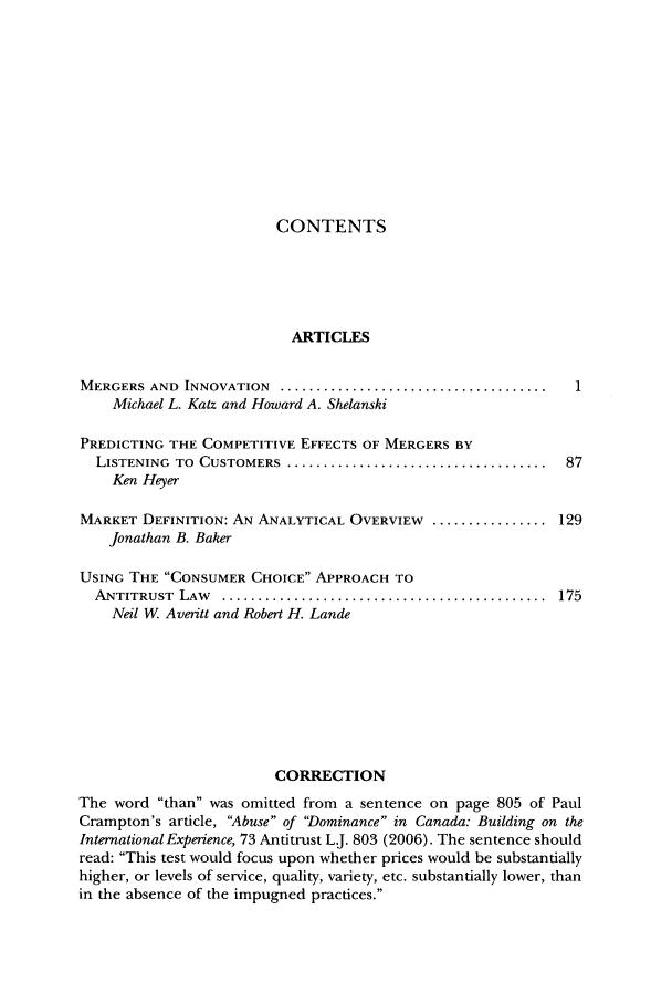 Antitrust Law Journal V  74