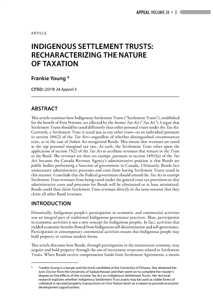 handle is hein.journals/appeal24 and id is 1 raw text is: 