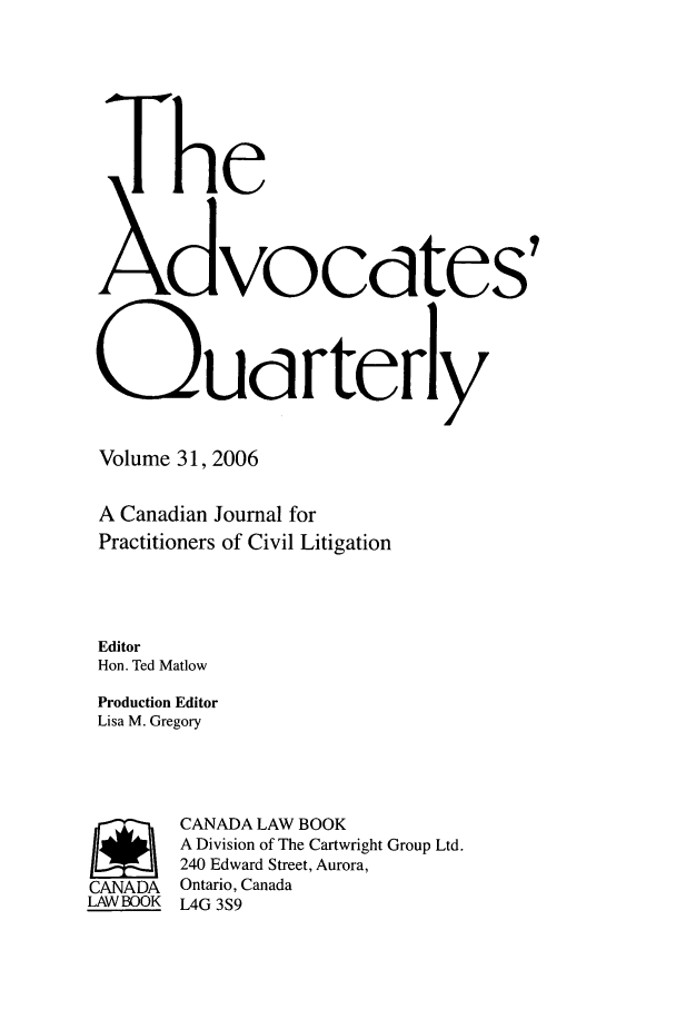 handle is hein.journals/aqrty31 and id is 1 raw text is: The