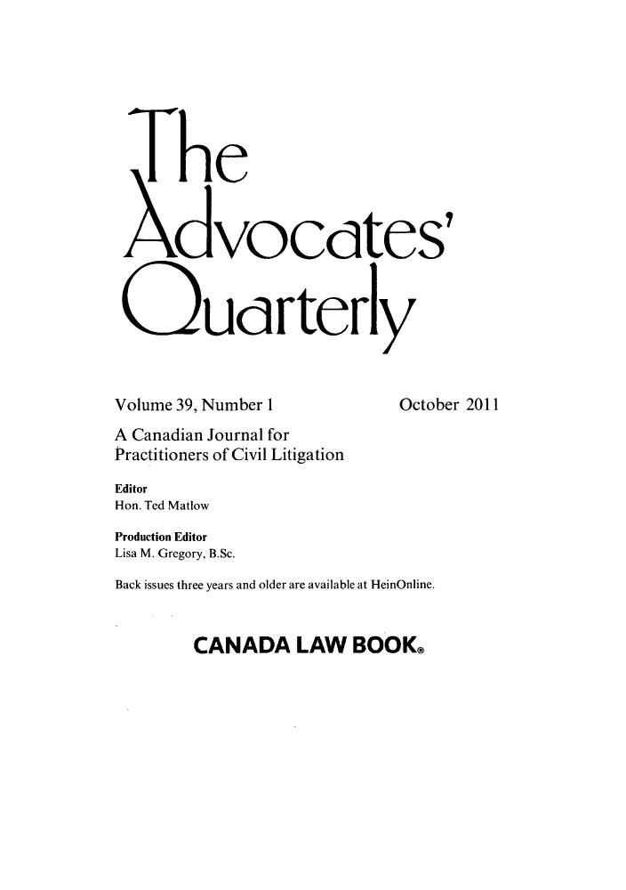 handle is hein.journals/aqrty39 and id is 1 raw text is: The