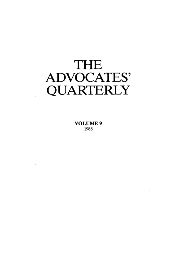 handle is hein.journals/aqrty9 and id is 1 raw text is: THE