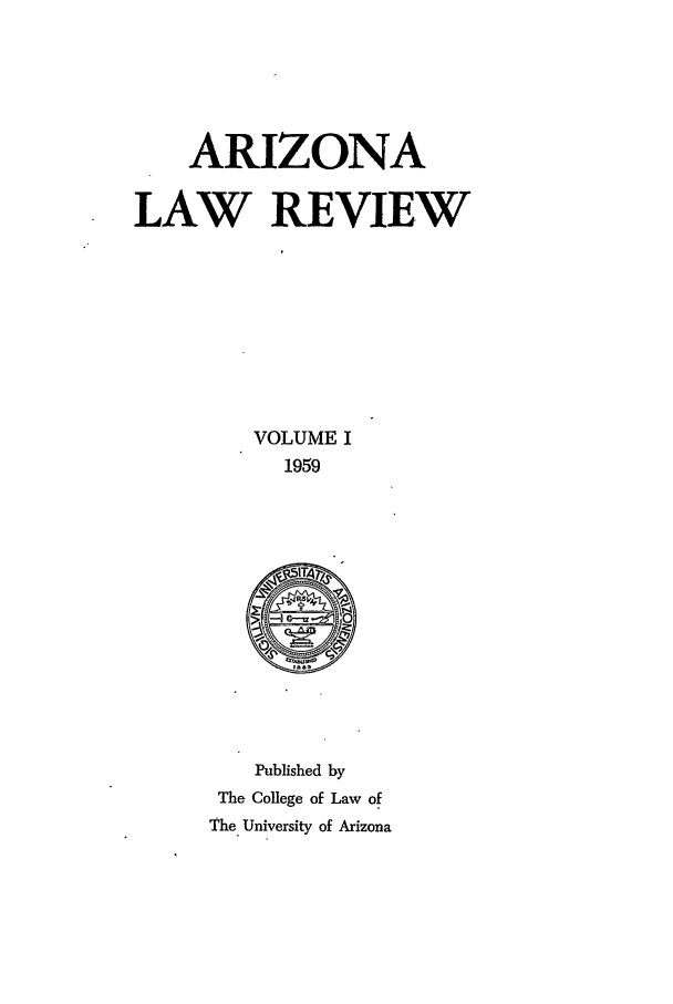handle is hein.journals/arz1 and id is 1 raw text is: ARIZONA