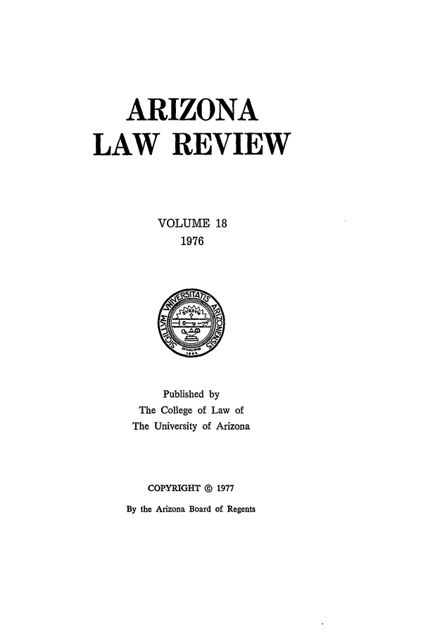 handle is hein.journals/arz18 and id is 1 raw text is: ARIZONA