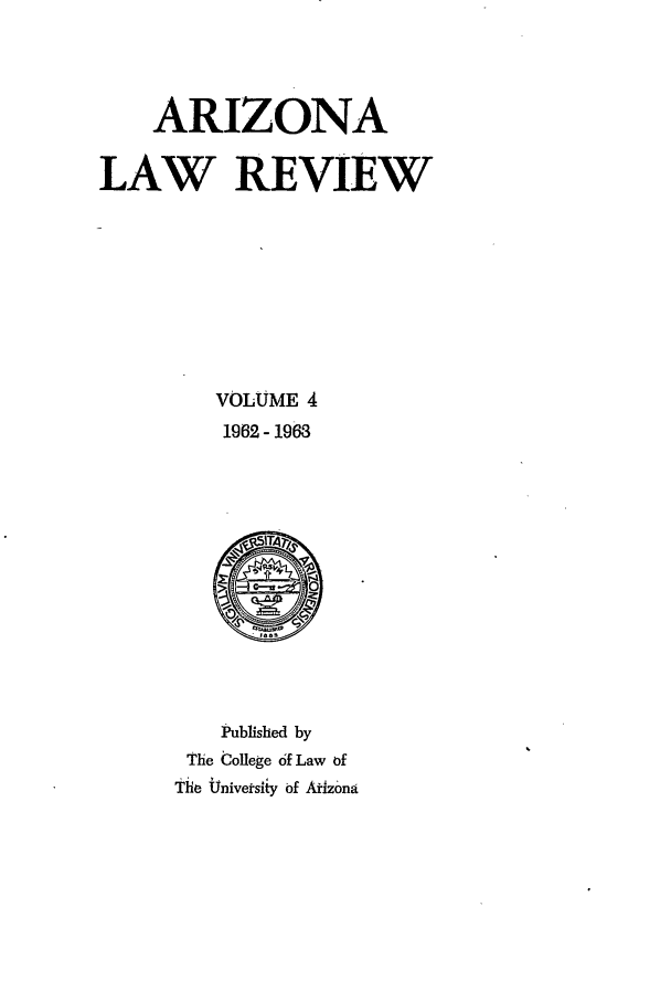 handle is hein.journals/arz4 and id is 1 raw text is: ARIZONA