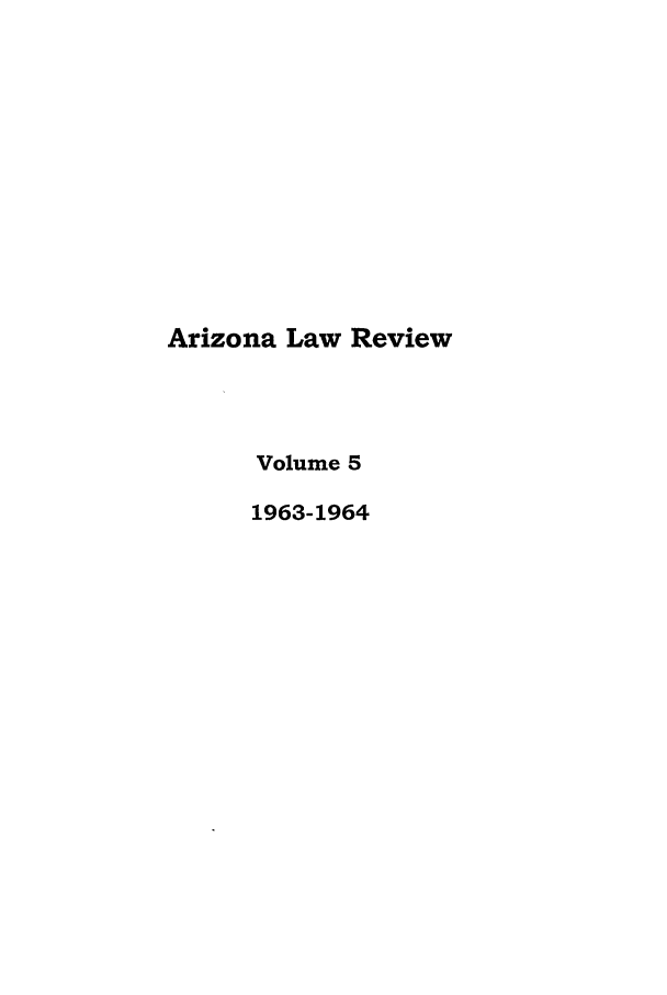 handle is hein.journals/arz5 and id is 1 raw text is: Arizona Law Review