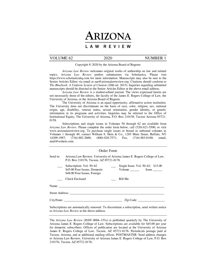 handle is hein.journals/arz62 and id is 1 raw text is: 