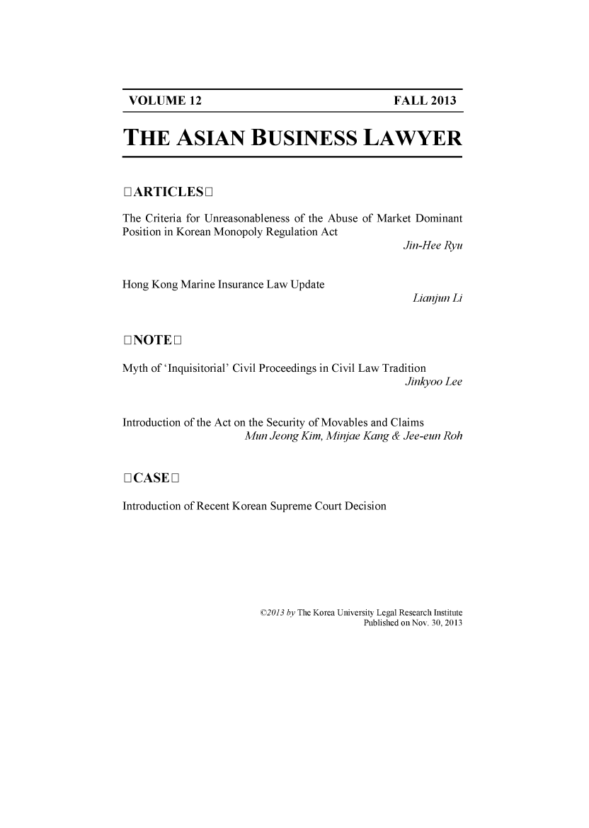 handle is hein.journals/asbulaw12 and id is 1 raw text is: 