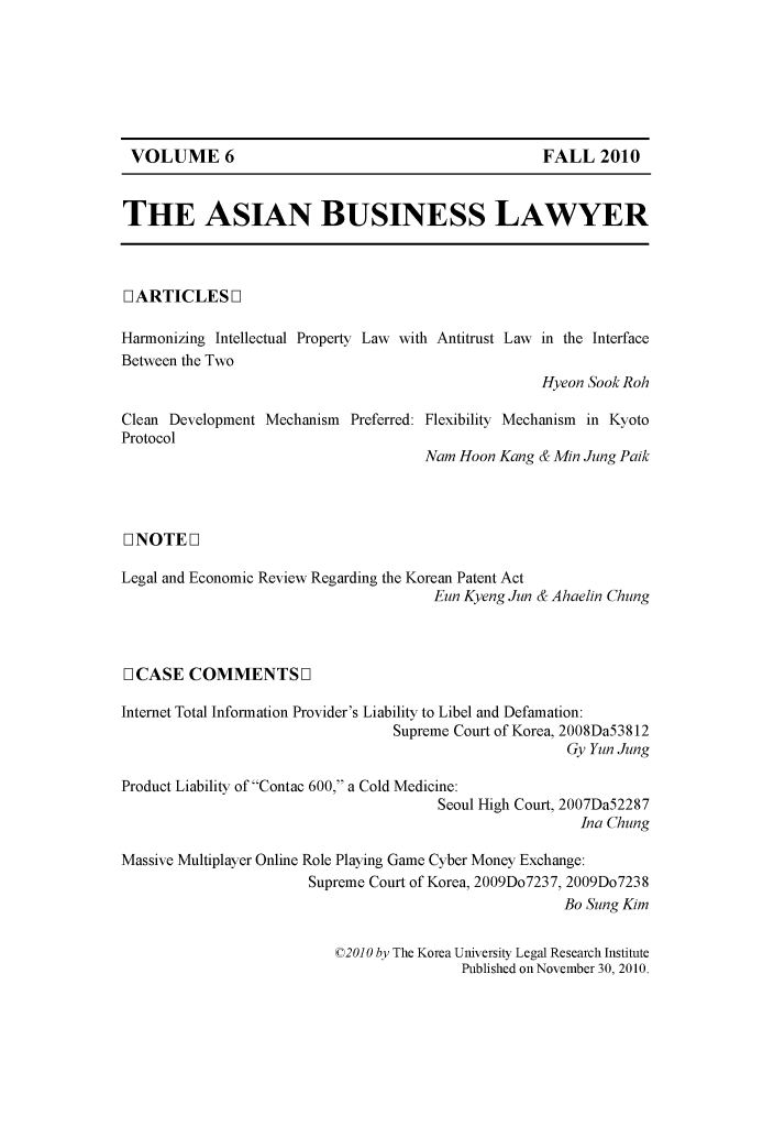 handle is hein.journals/asbulaw6 and id is 1 raw text is: 