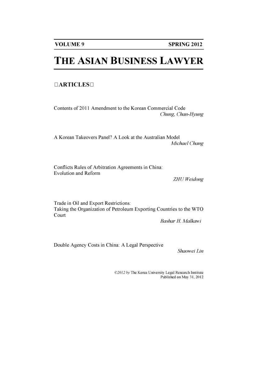 handle is hein.journals/asbulaw9 and id is 1 raw text is: 