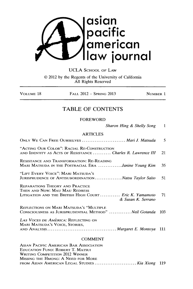 handle is hein.journals/asiapalj18 and id is 1 raw text is: asian