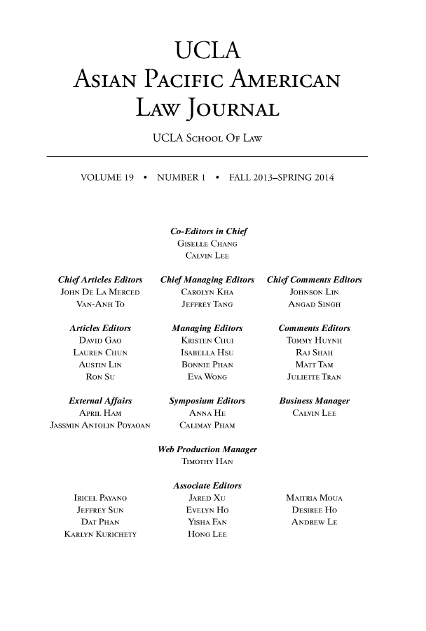 handle is hein.journals/asiapalj19 and id is 1 raw text is: UCLA