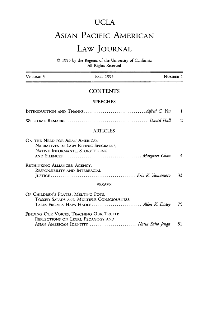 handle is hein.journals/asiapalj3 and id is 1 raw text is: UCLA