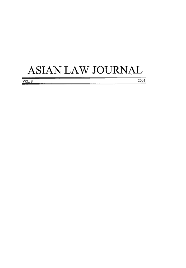 handle is hein.journals/aslj8 and id is 1 raw text is: ASIAN LAW JOURNAL