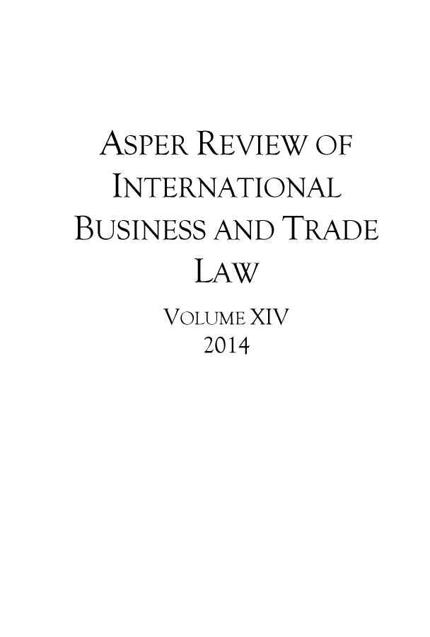 handle is hein.journals/asperv14 and id is 1 raw text is: 