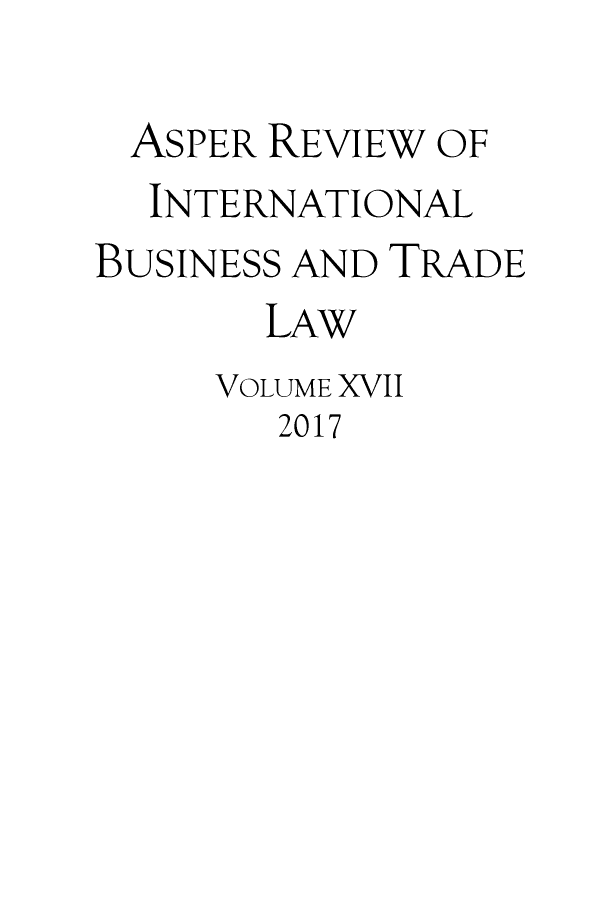 handle is hein.journals/asperv17 and id is 1 raw text is: 