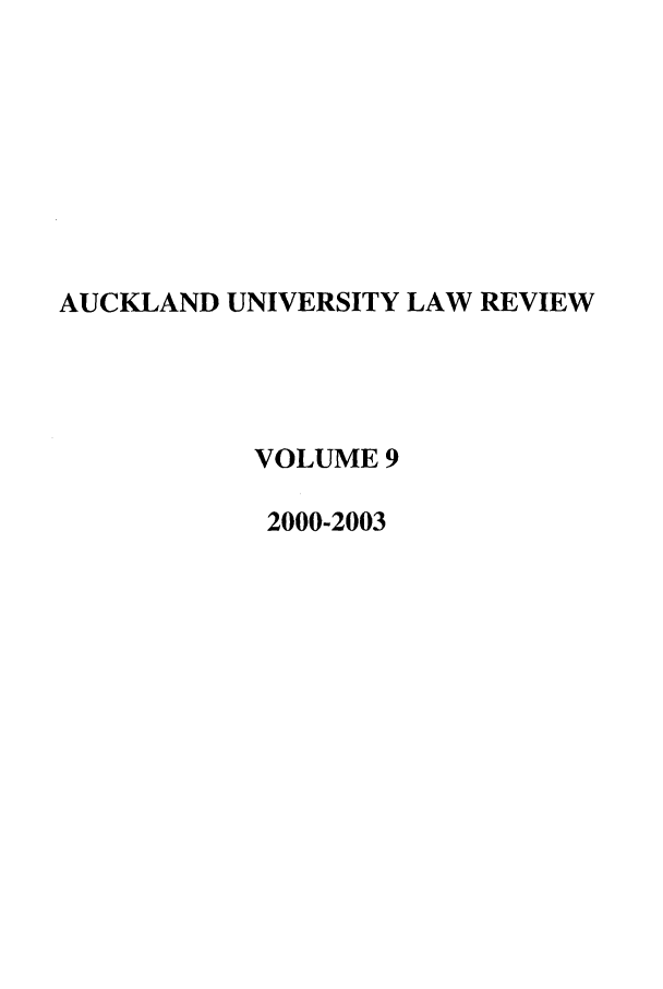 handle is hein.journals/auck9 and id is 1 raw text is: AUCKLAND UNIVERSITY LAW REVIEW