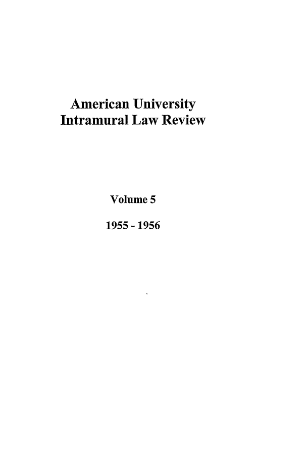handle is hein.journals/aulr5 and id is 1 raw text is: American University