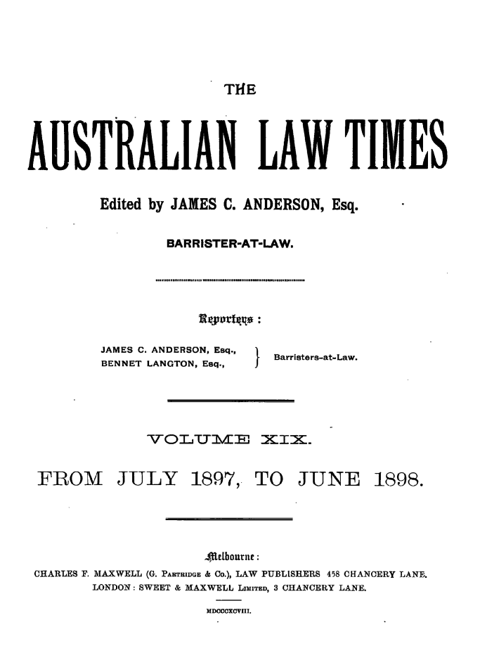 handle is hein.journals/ausianlati19 and id is 1 raw text is: THE
